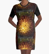 Chrysanthemum Joy Graphic T-Shirt Dress