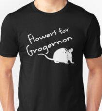 Flowers for Grogernon (White) T-Shirt