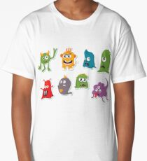 Kids Cartoon Monsters Long T-Shirt