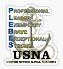 USNA - PLEBE Definition Sticker