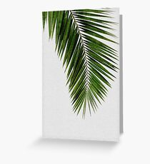Palm Leaf Green I Greeting Card