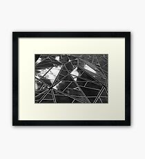 Black and White sky reflections Framed Print