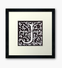 "Art Nouveau ""J"" (William Morris Inspired) Framed Print"