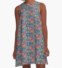 Vivid Exciting Abstract Art A-Line Dress