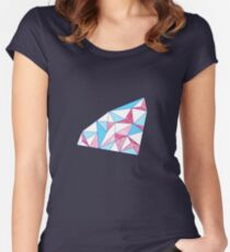 Seamless geometric pattern of triangles Women's Fitted Scoop T-Shirt