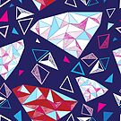 Seamless geometric pattern of triangles by Tanor