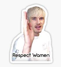 Respect Wamen Pewdiepie Sticker Sticker