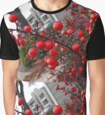 Red Winter Berries Graphic T-Shirt