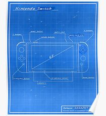 Nintendo Switch Blueprint Poster