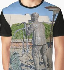 "Penny Farthing ""Time Traveller"" Statue Graphic T-Shirt"