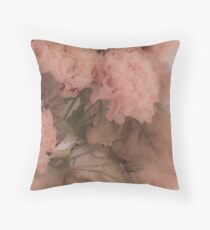 Dried Pink Peonies Throw Pillow