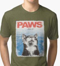 Paws Cat Kitten Meow Parody Cool Tshirt Tri-blend T-Shirt
