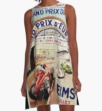 Gran Prix de LACF, Reims, 1959, originales Vintage-Poster A-Linien Kleid