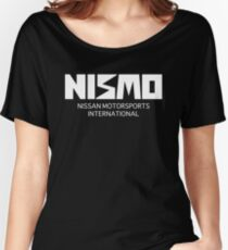 Retro White Nismo Nissan Motorsport Logo Women's Relaxed Fit T-Shirt
