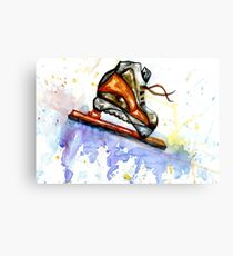 Watercolor Ice Skate Canvas Print