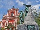 Franciscan Church & Preseren Monument by Graeme  Hyde