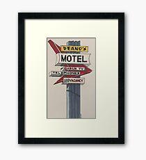 Deano's Motel Framed Print