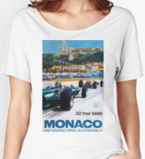 Gran Prix de Monaco, 1966, original vintage poster Women's Relaxed Fit T-Shirt