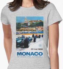 Gran Prix de Monaco, 1966, original vintage poster Women's Fitted T-Shirt