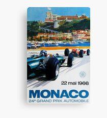 Gran Prix de Monaco, 1966, original vintage poster Canvas Print