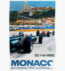 Gran Prix de Monaco, 1966, original vintage poster Poster