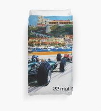 Gran Prix de Monaco, 1966, original vintage poster Duvet Cover