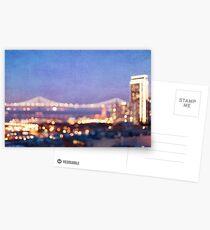 Bay Bridge Glow - San Francisco Postcards