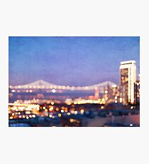 Bay Bridge Glow - San Francisco Photographic Print