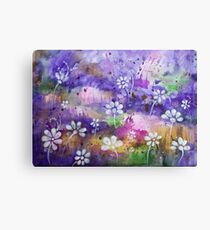 Abstract Colorful Watercolor Original Painting Canvas Print