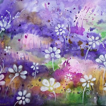 Abstract Colorful Watercolor Original Painting by DhanaART