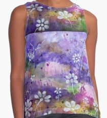 Abstract Colorful Watercolor Original Painting Contrast Tank