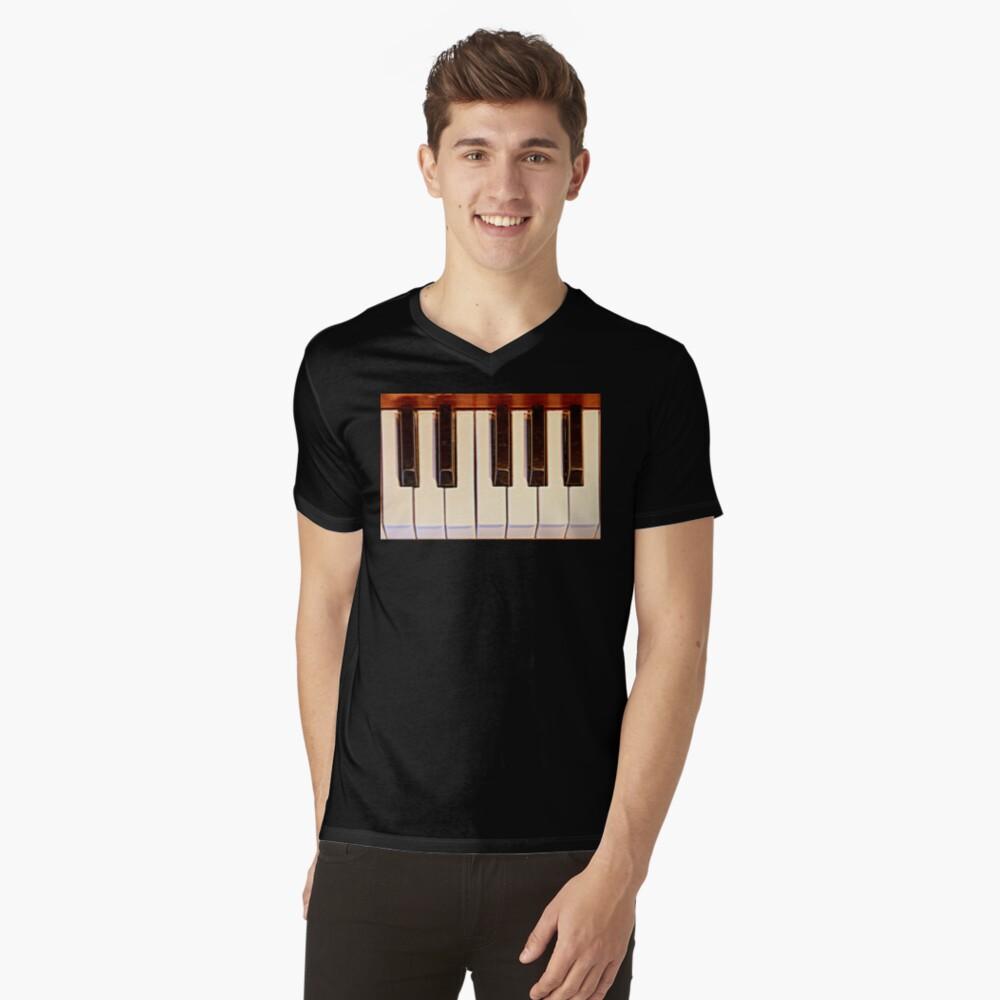 Piano Octave V-Neck T-Shirt