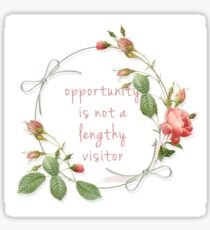 opportunity is not a lengthy visitor  Sticker