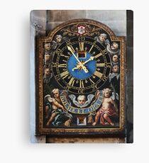 Clock - Watch and Pray Canvas Print