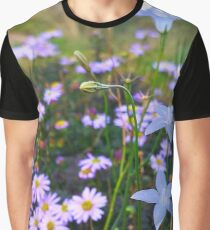 Wildflowers on a Rock Graphic T-Shirt