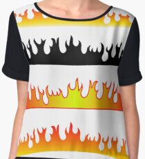 Silhouettes of Fire Women's Chiffon Top