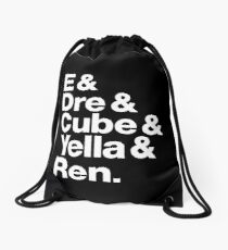 NWA ~ E, Dre, Cube, Yella & Ren Drawstring Bag
