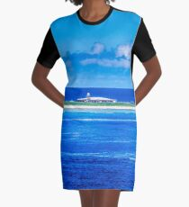 Remote Weather Station Graphic T-Shirt Dress