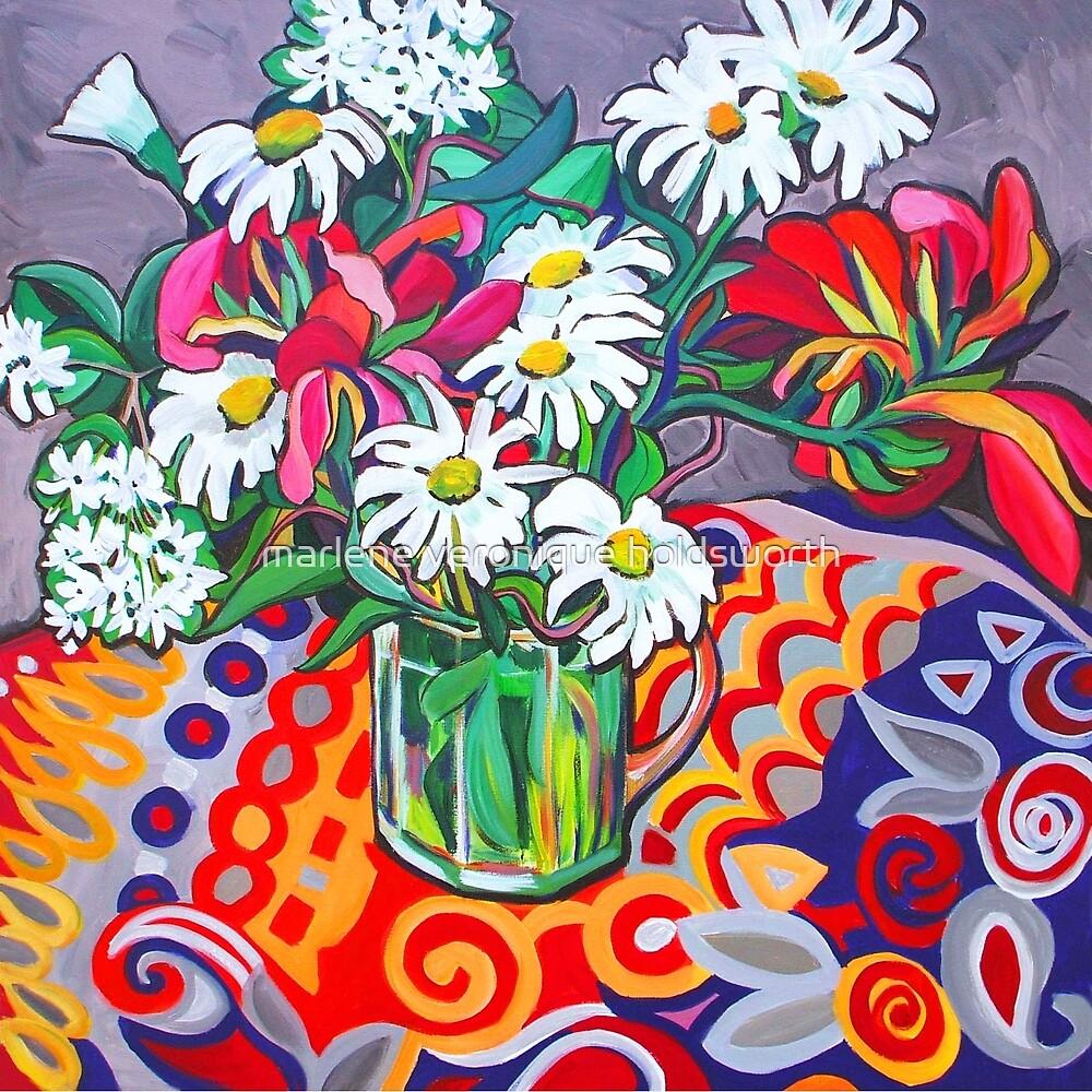 Daisy Still Life by marlene veronique holdsworth