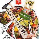 Stamp People Series (The Poet) by dosankodebbie
