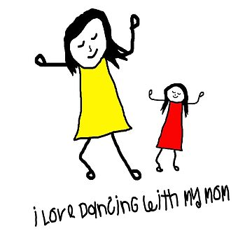 Mom and Daughter shirts. Dancing Tee. Love my mom by PeterTheArtist