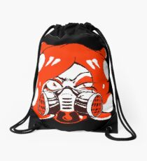 GET THAT SQUID! Radically crazy Octo girl Drawstring Bag