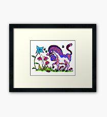 Happy Pony colour Framed Print
