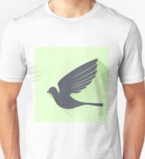 Grey Bird Unisex T-Shirt