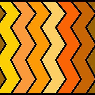 Orange Shades Zigzag Pattern by uredian