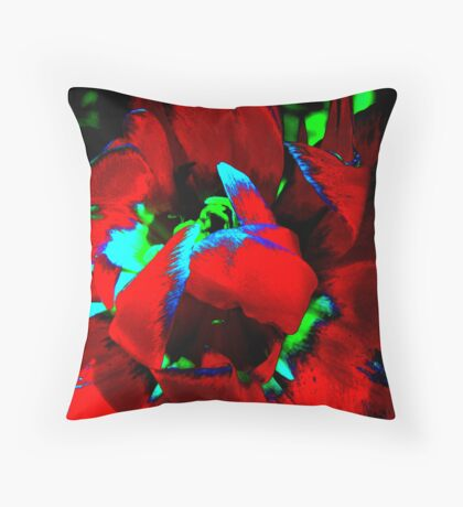Dream flower(RED). Throw Pillow