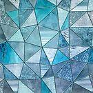 Blue Aqua Glamour Shiny Patchwork by artsandsoul