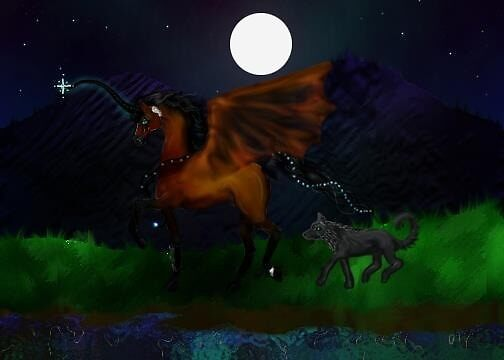 Bay Bat Winged Unicorn by Stephanie Small