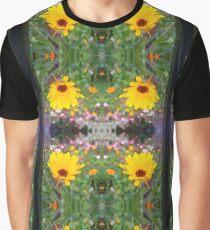 Barring Yellow Daisies Graphic T-Shirt