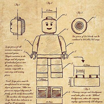 Leonardo Da Vinci Lego by Nattouf